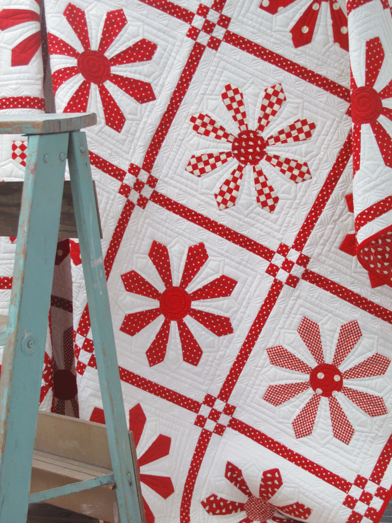Red-Daisy-Quilt-Pattern